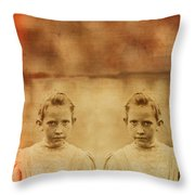 Evil Twins Throw Pillow