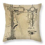 Evinrude Outboard Marine Engine Patent  1910 Throw Pillow