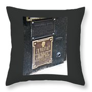 Evita Burial Vault Throw Pillow