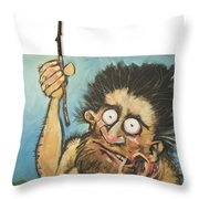 Evolution Number One Throw Pillow