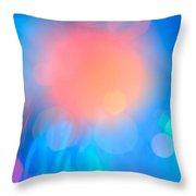 Evolution Orange Throw Pillow