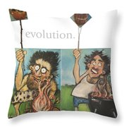 Evolution The Poster Throw Pillow