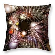 Examining Virtuosity Throw Pillow