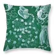 Examples Of Siphonophorae Throw Pillow