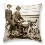 Excalibur Motorcycle Circa 1920 Throw Pillow