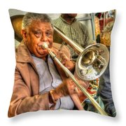 Excelsior Band Horn Player Throw Pillow