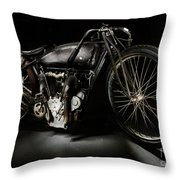Excelsior Board Track Racer V Throw Pillow