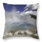 Excelsior Geyser Crater In Yellowstone National Park Throw Pillow