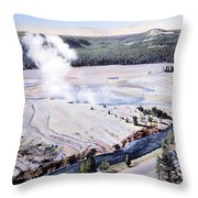 Excelsior Geyser, Yellowstone Np, 20th Throw Pillow