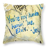 Excerpts From The Wall Memphis Throw Pillow