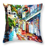 Exchange Alley Throw Pillow