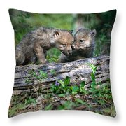 Exchange Of Confidential Information Throw Pillow