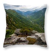 Exclamation Point North Carolina  Throw Pillow