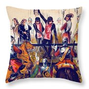 Execution Of Charles I, 1649 Throw Pillow
