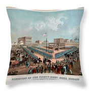 Execution Of The Thirty Eight Sioux Indians Throw Pillow