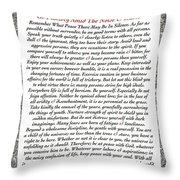 Executive Style Desiderata Throw Pillow