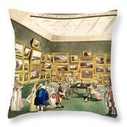 Exhibition Of Watercoloured Drawings Throw Pillow