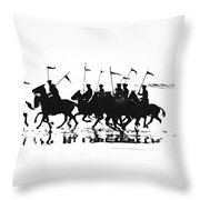 Exhibition Platoon Of The 11th U.s. Cavalry On Del Monte Beach Monterey California 1935 Throw Pillow