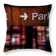 Exit Park Throw Pillow