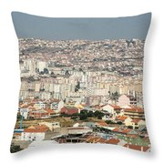 Exiting Lisbon By Plane Throw Pillow