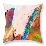 Exmouth Gulf Throw Pillow