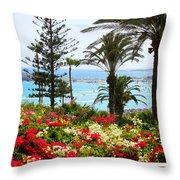 Exotic Beach Throw Pillow