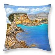 Exotic Beach Near Limassol Throw Pillow