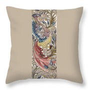 Exotic Bird Throw Pillow by William Morris