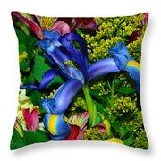 Exotic Blue Throw Pillow