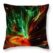 Exotic Flower Throw Pillow