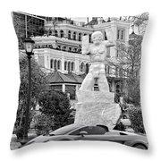 Exotic New Orleans Monochrome Throw Pillow