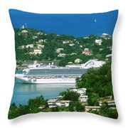Exotic Port Throw Pillow
