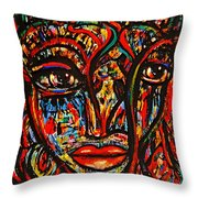 Exotic Priestess Throw Pillow