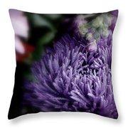 Exotic Purple Flower Throw Pillow