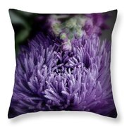 Exotic Purple Flower Two Throw Pillow
