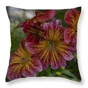 Exotic Spring Flowers Throw Pillow