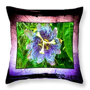 Exotic Strange Flower Throw Pillow