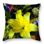 Exotic Yellow Throw Pillow