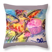 Exotica With Feline Friend  Throw Pillow