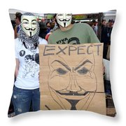 Expect Revolution Throw Pillow