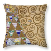 Expectation Preparatory Cartoon For The Stoclet Frieze Throw Pillow
