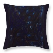 Expectations Blue  Throw Pillow