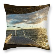 Expedition Boat In Repulse Bay Throw Pillow