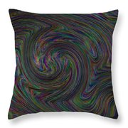 Experiment With Noise Throw Pillow