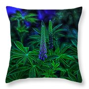 Experimental Flowers Throw Pillow