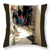 Experimental Living Throw Pillow