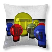 Experimental Reflections Throw Pillow