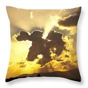 Exploding Cloud Throw Pillow