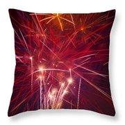 Exploding Fireworks Throw Pillow