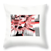 Exploding Fractal Throw Pillow
